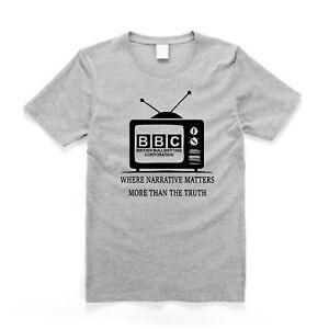 BBC British Bullsh*tting Corporation Fake News Social Engineering T Shirt Grey
