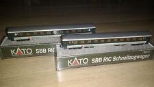 2x Kato 23103 Ric SBB 2. clase gris-verde época v -! nuevo!
