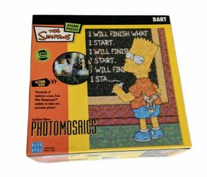 The Simpsons Bart Photomosaics 1000 Piece Jigsaw Puzzle - Blue Opal Complete
