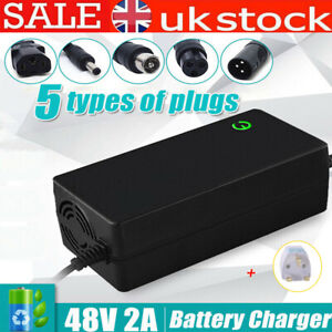 48V 2A Li-Ion Lithium Battery Charger For Electric Bike Scooter Motorcycle Ebike
