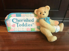 "ENESCO CHERISHED TEDDIES SIGN DEALER STORE DISPLAY 25"" LONG"