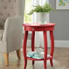 Better Homes and Gardens Round Accent Table With Drawer Multiple Colors