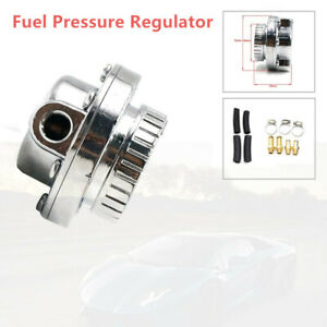 Auto Car Universal Adjustable 1-5 PSI Fuel Pump Pressure Regulator 8mm 10mm Hose