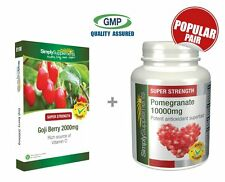 Goji Berry 2000mg 120 Tablets + Pomegranate 10000mg 240 Tablets | Superfoods