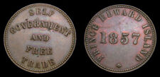 Token of Prince Edward Island Self Government & Free Trade 1857 Half Penny EF-40