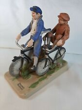 "Norman Rockwell Figurine ""Bicycle Boys"" with Original Box 1981"