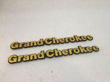 93-98 JEEP GRAND CHEROKEE EMBLEMS FRONT FENDER OEM GOLD BADGE (METAL)