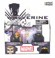 Marvel Minimates Series 52 Wolverine Movie Black Clan Ninja & Undercover Viper