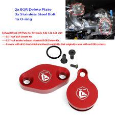 LS Delete Intake Exhaust Block Off Plate For Silverado 4.8L 5.3L 6.0L LQ4 R