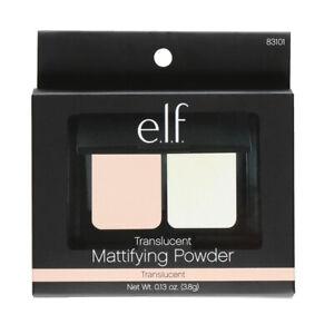 2 PCS  elf Translucent Mattifying Powder. Mirror & Applicator Incld.