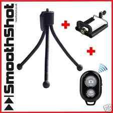 MINI COMPACT FLEXIBLE TRIPOD STAND CAMERA HOLDER SMARTPHONE MOUNT BLUETOOTH