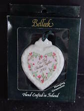 BeLleek Ireland OUR FIRST CHRISTMAS TOGETHER 2002 ORNAMENT
