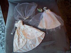 Vintage 1967 Barbie # 1698 Beautiful Bride White Wedding Gown Near Complete Nice