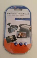 "Screen Guard Universal 1.5-5.0 LCD screens 3 screen guards 3""×5"" card Zeikos New"