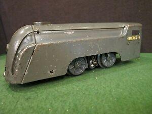 Marx Gray Mercury Streamliner Prewar O Gauge ~ tested and runs