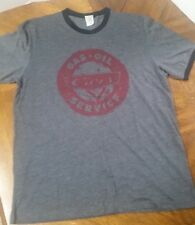 DISNEY PIXAR CARS GAS OIL SERVICE RADIATOR SPRINGS T SHIRT GRAY LARGE