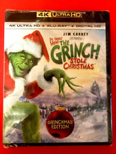 Dr. Seuss How The Grinch Stole Christmas 4K New Factory Sealed - Free Shipping