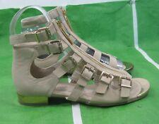 "new Summer Skintone/Gold Womens Fashion Open Sexy Half""Heel Sandals Size 7"