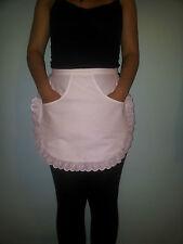 Blanco camarera Kitchen Cooking Maid media Musgo Escuela Apron with Front Pocket