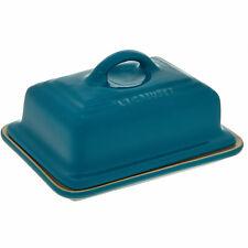 LE CREUSET Teal Stoneware Butter Dish 17x12cm