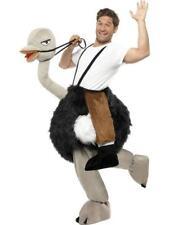 Deluxe Ostrich Bird Rider Fancy Dress Mens Ladies Adult Animal Ride On Costume