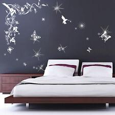 Walplus Butterflies Vine Swarovski Crystals Wall Sticker Home Decal Decorations