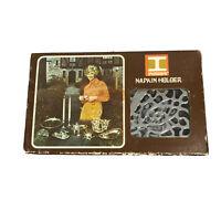 Vintage 1971 Irvinware Napkin Holder Chrome Plated Metal Original Box Never Used