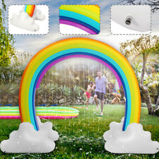 Inflatable Water Sprinkler Rainbow Fun Garden Beach Outdoor Kids Party Toys Gift