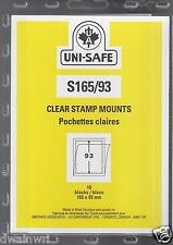 "Uni-Safe ""S"" Top Opening #165/93 Stamp Mounts (Made in Germany) 10 Clear strips"