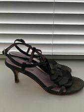 Boden Full Leather Grey Sandals Size 6 / 39