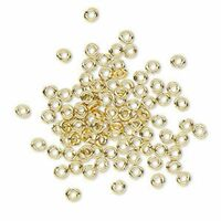 50 Jump Rings 6mm hand cut Brass jewelry finding open round square wire 19g
