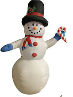 Gemmy Frosty The Snowman 8 Ft Black Hat Airblown Inflatable Christmas