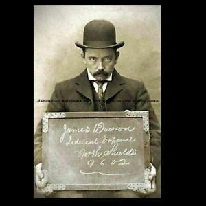 Vintage Creepy Mug Shot PHOTO Indecent Exposure Charge! Yikes Scary 1902 Pic