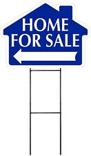 Home For Sale - BLUE - House Shaped Sign Kit with Stand(K-S111)