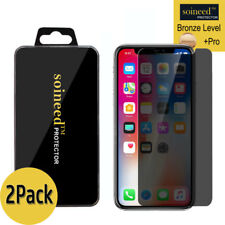 [2-Pack] Soineed iPhone X Privacy Anti-Spy REAL Tempered Glass Screen Protector