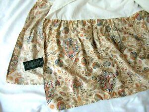 """Ralph Lauren Marrakesh Rug multi color Paisley Queen Bed skirt dust ruffle 17"""""""