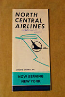 North Central Airlines Timetable - Jan 1, 1971