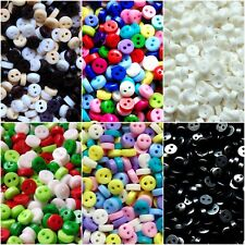 50 x 6mm Mini Buttons - Tiny for Dolls Crafts - Mixed Black Xmas Pastels