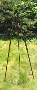 """Vintage Antique Wooden Adjustable TRIPOD Camera /Steampunk Stand 29"""" to 54"""""""