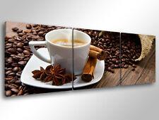Quadro Moderno 3 pz. COFFEE BREAK cm 150x50 arredamento caffè bar ristorante