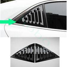 2x For Chevrolet Malibu 11-14 Rear Triangular Window ABS Bright Black Cover Trim