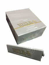 10 X GENUINE RIZLA SILVER KING SIZE SLIM ROLLING PAPERS 320 SKINS!!