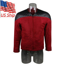 Star Trek The Next Generation Captain Picard Red Duty Uniform Jacket TNG Costume