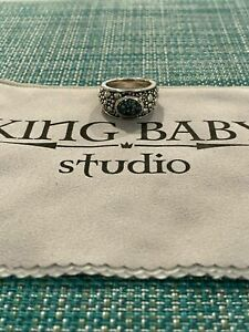 King Baby Studios Turquoise Ring .925 Sterling Silver RARE Caesars Palace $1095