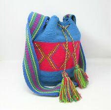 Colorful Ex Large Hobo Beach Bag Tote Woven Tassel Shoulder Purse