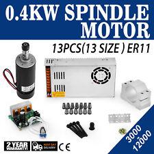 0.4KW Frässpindel + Schaltnetzteil +Drehzahlregler Mount Spindle Motor Brushless