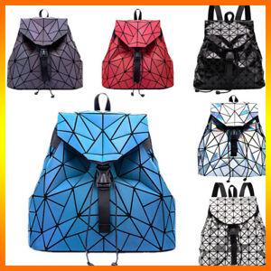 丿丿 Holographic Luminous Backpack Crossbody Bag Rainbow Reflective Rainbow colors