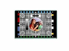RETRO BBC CULT TV TEST CARD -JUMBO FRIDGE / LOCKER MAGNET
