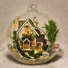 DIY Wooden Dollhouse Miniature Kit w/ LED and Voice control Forest house