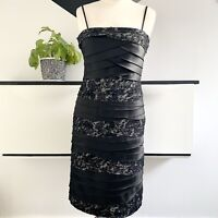 PHASE EIGHT Dress Size 10 BLACK | SMART Occasion WEDDING Cruise RACES Lace